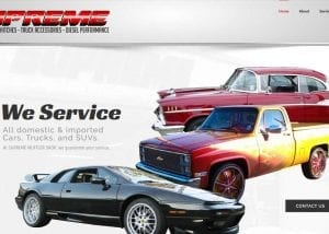 supreme muffler website design image
