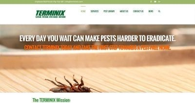 terminix new orleans website design image