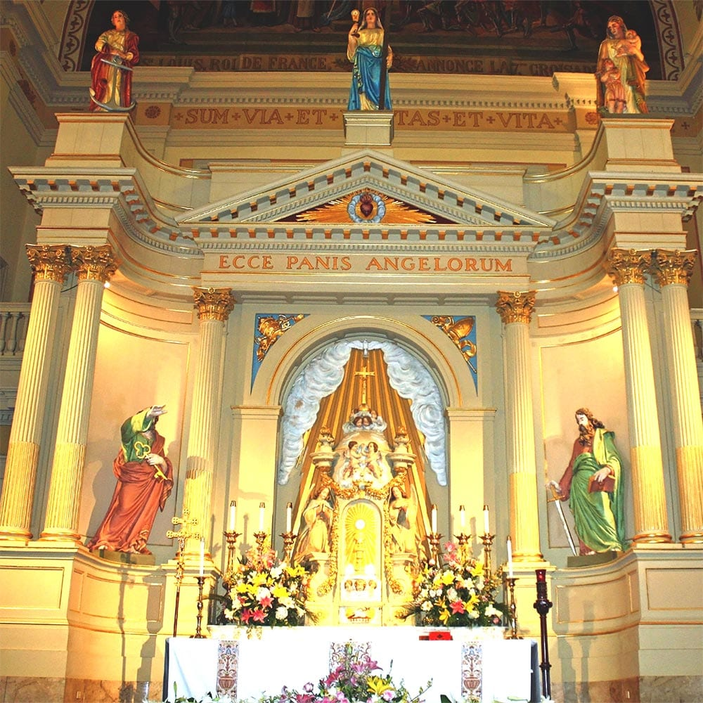 The altar in St. Louis Cathedral in New Orleans Louisiana Jackson Square