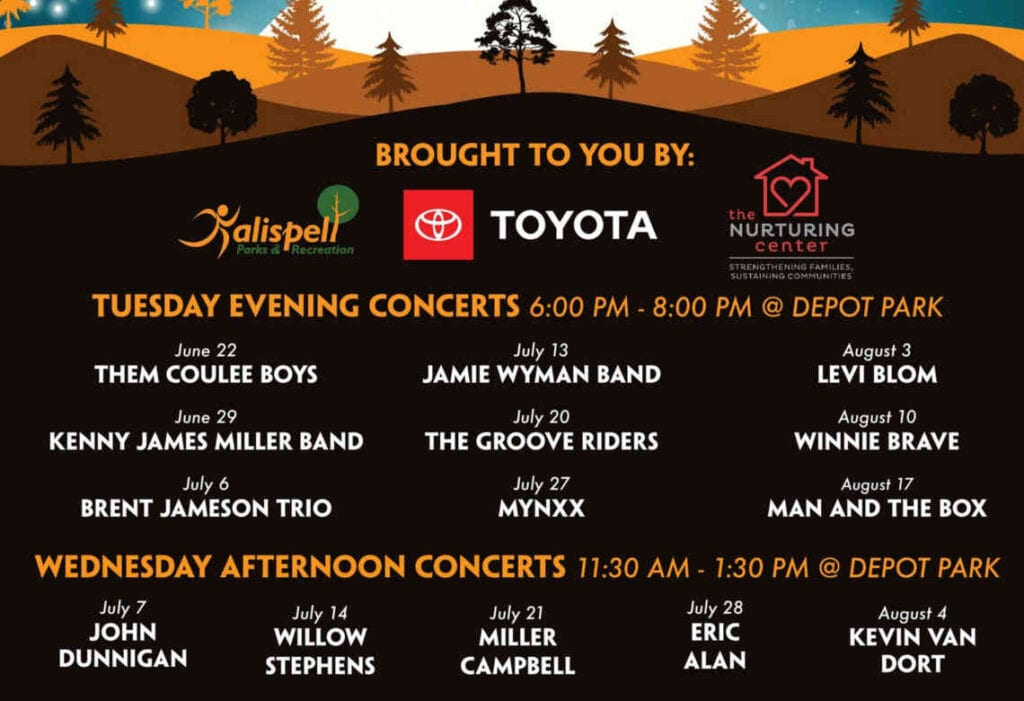 Picnic in the park Sponsors and music