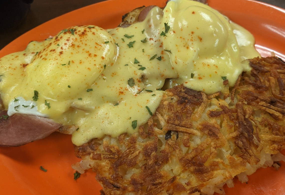 Sykes Diner & Market Eggs Benedict With Hash browns